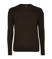 Rick Owens Chunky Ribbed Sweater Male Grey