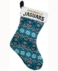 Forever Collectibles Jacksonville Jaguars Ugly Sweater Knit Team Stocking Black