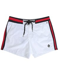 Tommy Hilfiger White Flag Waistband Swim Shorts