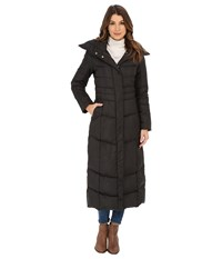 Cole Haan Maxi Down Coat With Oversized Collar Black Women's Coat