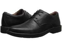 Clarks Stratton Way Black Leather Men's Lace Up Cap Toe Shoes