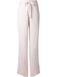 Ann Demeulemeester Tie Wide Leg Trousers Pink And Purple