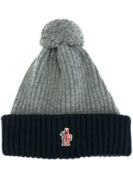 Moncler Grenoble Ribbed Beanie Grey