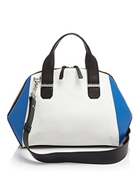 Mackage Satchel Sage Top Handle White Cobalt Black