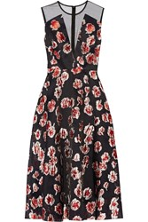 Lela Rose Fil Coupe Dress Black