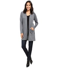 Lilla P Peached Knit Long Sleeve Duster Storm Women's Clothing Black