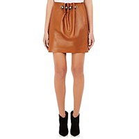 Loewe Women's Leather Ball And Chain Embellished Miniskirt Tan