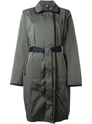 Fay Belted Coat Green