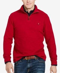 Polo Ralph Lauren Big And Tall Men's Estate Rib Half Zip Sweater Monarch Red