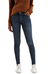 Topshop Moto 'Leigh' Skinny Jeans Navy Blue