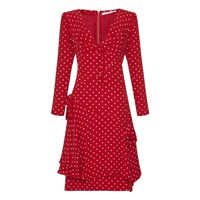 Valentino Vintage 1980S Red Polka Dot Dress