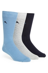Tommy Bahama Cotton Blend Socks Assorted 3 Pack
