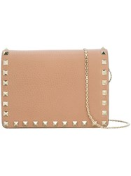 Valentino 'Rockstud' Crossbody Bag Nude Neutrals