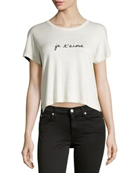 Central Park West Knit Two Tone Je T'aime Top Ivory Black