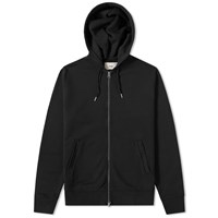 Folk Zip Hoody Black