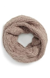 Women's Vince Camuto 'Thick Thin' Knit Infinity Scarf Grey Driftwood Heather