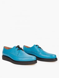 Paul Smith Turquoise Leather Creepers