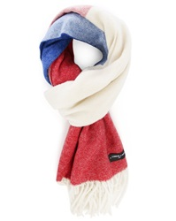 Commune De Paris Blue White Red Lambswool Flag Scarf Menlook 5 Year Exclusive