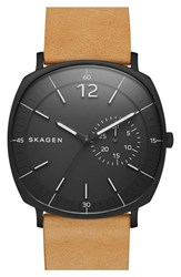 Men's Skagen 'Rungsted' Leather Strap Watch 40Mm