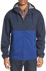 Men's Volcom 'Bueno' Water Resistant Coated Colorblock Canvas Hooded Jacket