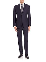 Giorgio Armani Solid Virgin Wool Suit Ink Well