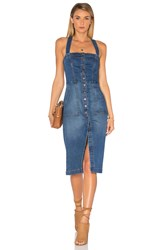 Level 99 Claire Denim Snap Dress Lake Shore