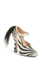 Gucci Women's 'Lesley' Zebra Stripe Pump Zebra Leather
