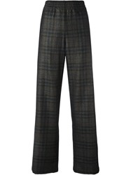 Maison Martin Margiela Checked Straight Leg Trousers Black