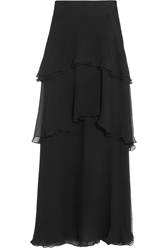 Chloe Tiered Silk Mousseline Maxi Skirt