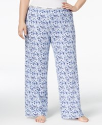 Tommy Hilfiger Plus Size Pajama Pants Chilled Floral