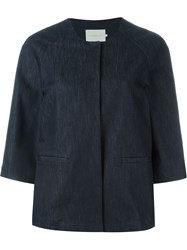 L'autre Chose Bell Sleeve Denim Jacket Blue