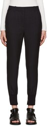 3.1 Phillip Lim Navy Pinstripe Jogger Trousers