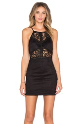 J.O.A. Lace Cut Out Bodycon Dress Black