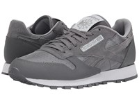 Reebok Classic Leather Reflect Shark Flat Grey White Black Men's Classic Shoes Gray