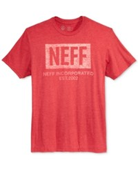 Neff Men's Graphic Print T Shirt Red Heather