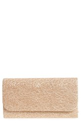 Natasha Couture Metallic Lace Clutch