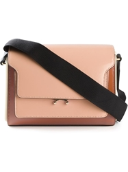 Marni Colour Block Satchel Brown