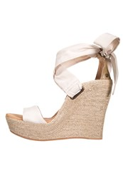 Ugg Jules Wedge Sandals Perl Off White