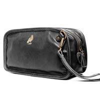 Satch And Fable Leather Dopp Kit Travelblack