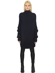 Designers Remix High Collar Rib Knit Cotton Sweater