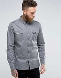 Firetrap Military Shirt Grey
