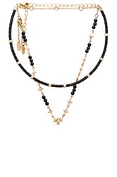 Ettika Rope Beaded Layered Choker Metallic Gold