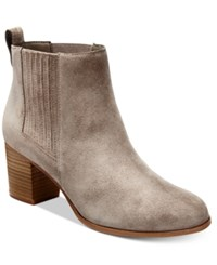 Inc International Concepts Women's Fainn Block Heel Booties Only At Macy's Women's Shoes Warm Taupe