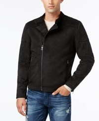 Guess Men's Cody Faux Suede Jacket Jet Black
