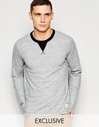 Franklin And Marshall Crew Neck Long Sleeve T Shirt Exclusive To Asos Grey