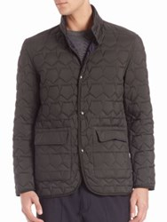 Z Zegna Reversible Quilted Jacket Dark Blue