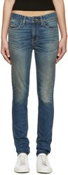 6397 Blue Faded Loose Skinny Jeans