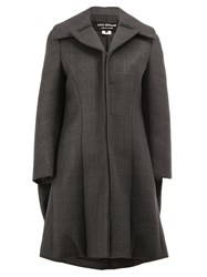 Comme Des Garcons Junya Watanabe Flared Zipped Coat Grey