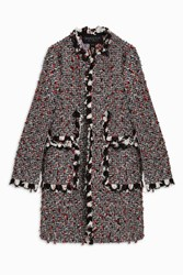Giambattista Valli Women S Tweed Coat Boutique1 Multi