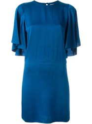Lanvin Half Sleeve Dress Blue